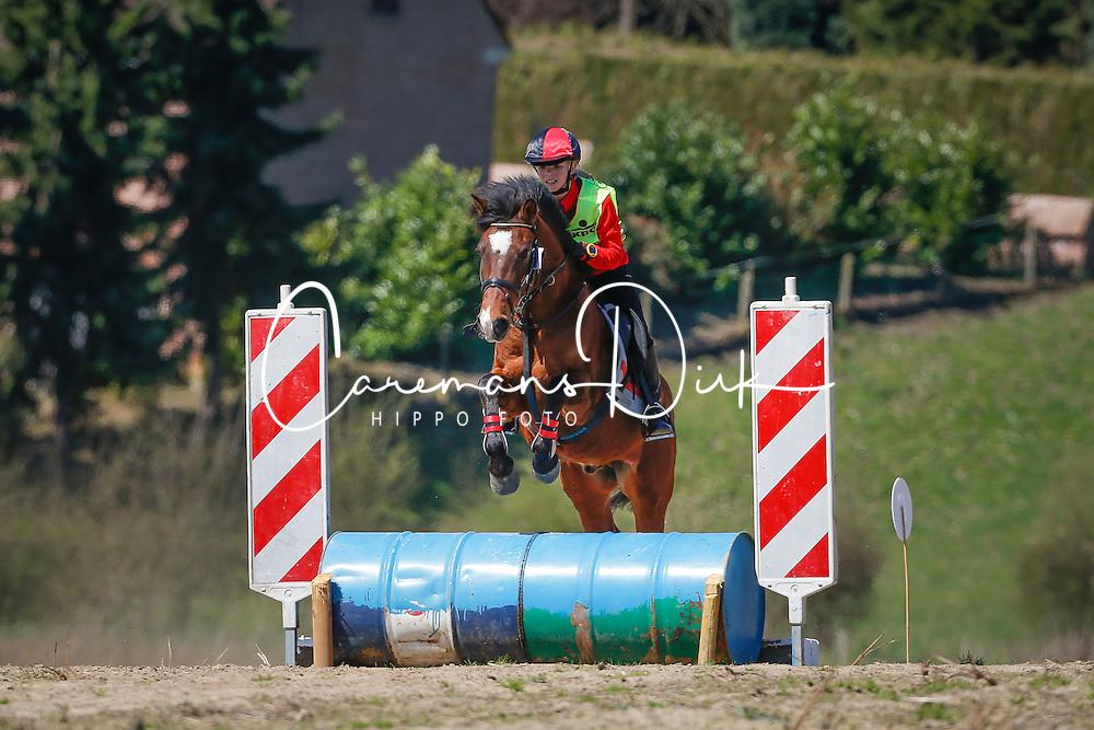 Quirijnen Ellen (BEL) - Fioco<br /> Nationale Pony eventing Affligem 2013<br /> © Dirk Caremans