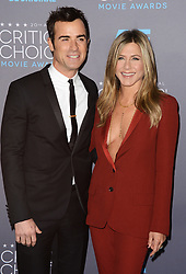 """File photo - Justin Theroux and Jennifer Aniston attend the 20th annual Critics' Choice Movie Awards at the Hollywood Palladium on January 15, 2015 in Los Angeles, CA, USA. Hollywood couple Jennifer Aniston and Justin Theroux are separating after two years of marriage. The pair, who reportedly met on the set of comedy film Wanderlust, said the mutual decision was """"lovingly made"""" at the end of last year. Photo by Lionel Hahn/ABACAPRESS.COM"""