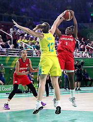 England's Melita Emanuel-Carr in action in the Women's Gold Medal Game at the Gold Coast Convention and Exhibition Centre during day ten of the 2018 Commonwealth Games in the Gold Coast, Australia.