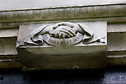 "Highgate Cemetery London: carving that says ""we shall meet again"""