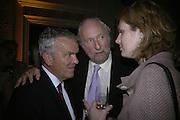 Matthew Evans AND Ed Victor, Tatler Summer party. Home House. Portman Sq. London. 27 June 2007.  -DO NOT ARCHIVE-© Copyright Photograph by Dafydd Jones. 248 Clapham Rd. London SW9 0PZ. Tel 0207 820 0771. www.dafjones.com.