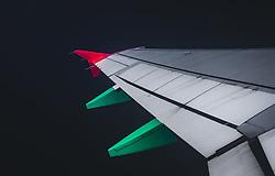 THEMENBILD - ein Flügel des Flugzeugs, aufgenommen am 15. August 2018 in Larnaka, Zypern // a wing of the plane, Larnaca, Zyprus on 2018/08/15. EXPA Pictures © 2018, PhotoCredit: EXPA/ JFK