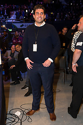 © Licensed to London News Pictures. 26/03/2016. TOWIE JAMES ARGENT attends the boxing fight between NICK BLACKWELL as he defends his British middleweight championship against number one-ranked contender CHRIS EUBANK JR at the SSE Arena, Wembley.   Twenty-five-year-old Blackwell is one of the most exciting fighters in the country and won the British middleweight title in May 2015.  He has since defended his title twice.  London, UK. Photo credit: Ray Tang/LNP
