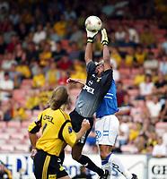 Fotball, 25. august 2002. Tippeligaen,  Lillestrøm - Start 7-0. Emille Baron, Lillestrøm.