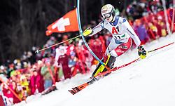 "29.01.2019, Planai, Schladming, AUT, FIS Weltcup Ski Alpin, Slalom, Herren, 1. Lauf, im Bild Loic Meillard (SUI) // Loic Meillard of Switzerland in action during his 1st run of men's Slalom ""the Nightrace"" of FIS ski alpine world cup at the Planai in Schladming, Austria on 2019/01/29. EXPA Pictures © 2019, PhotoCredit: EXPA/ JFK"