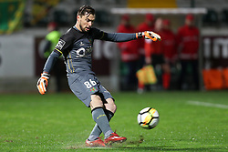March 11, 2018 - Pacos Ferreira, Pacos Ferreira, Portugal - Pacos Ferreira's Portuguese goalkeeper Mario Felgueiras in action during the Premier League 2017/18 match between Pacos Ferreira and FC Porto, at Mata Real Stadium in Pacos de Ferreira on March 11, 2018. (Credit Image: © Dpi/NurPhoto via ZUMA Press)
