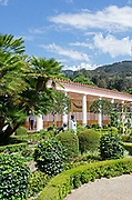 The outer peristyle of the Getty Villa, Pacific Palisades, California.
