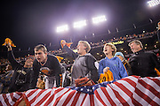 San Francisco Giants fans celebrate a 6-5 win over the Chicago Cubs in the 13th inning during Game 3 of the NLDS at AT&T Park in San Francisco, Calif., on October 10, 2016. (Stan Olszewski/Special to S.F. Examiner)