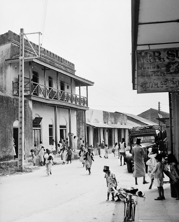 Street Scene, Mombasa, Kenya, Africa, 1937
