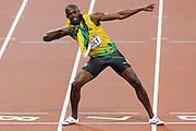 Mcc0041438 . Daily Telegraph..DT Sport..2012 Olympics..Jamaica's Usain Bolt wins the Mens 200m sprint ..9 August 2012....