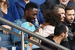 Thomas N'Gijol and his daughter attend the Ligue 1 match between Paris Saint-Germain (PSG) and FC Girondins de Bordeaux at Parc des Princes on September 30, 2017 in Paris. Photo by Laurent Zabulon/ABACAPRESS.COM