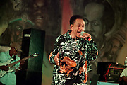 Derrick Harriot singing at Bourbon Beach Bar, Negril, Westmoreland, Jamaica.