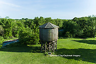 63807-01011 Wooden water tower for steam engines on railroad Kinmundy, IL