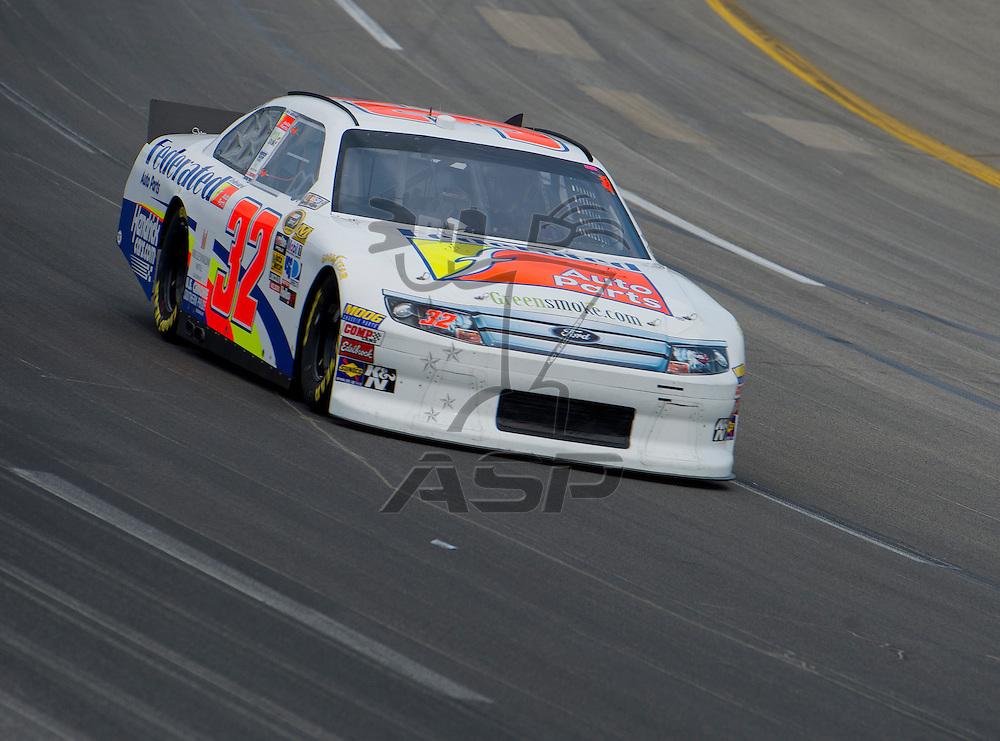 Sparta, KY - JUN 29, 2012: Mike Bliss (32) during qualifying for the Quaker State 400 at Kentucky Speedway in Sparta, KY.