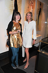 Left to right, ROSIE EMERSON and BRONWYN COSGRAVE at a private view of jewellery and photographs by Rosie Emerson and Annoushka Ducas entitled Alchemy in association with Ruinart Champagne held at Annoushka, 41 Cadogan gardens, London SW3 on 15th September 2011.