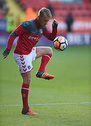 Charlton Athletic's Chris Solly during warm up