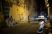 Habana Vieja street scene old Havana in the night