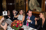 ALIAI FORTE, DUNCAN MACINTYRE, Pedro Girao of Christies and Duncan Macintyre of Lombard Odier host the last dinner at the Old Annabels. 44 Berkeley Sq. London. 15 November 2018