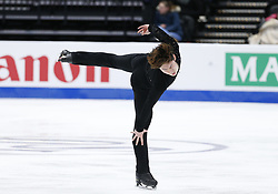 February 7, 2019 - Los Angeles, California, U.S - Keiji Tanaka of Japan competes in the Men Short Program during the ISU Four Continents Figure Skating Championship at the Honda Center in Anaheim, California on February 7, 2019. (Credit Image: © Ringo Chiu/ZUMA Wire)