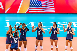 15-10-2018 JPN: World Championship Volleyball Women day 16, Nagoya<br /> Netherlands - USA 3-2 / Team USA