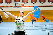 The Shadow Armada Winterguard rehearses at the Oregon High School in Oregon, Wisconsin on April 5, 2013.