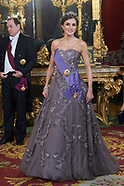 022719 Spanish royals attends a Gala Dinner with President of Peru and wife
