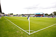 general view of Macclesfield (Moss Rose) Stadium before the EFL Sky Bet League 2 match between Macclesfield Town and Crawley Town at Moss Rose, Macclesfield, United Kingdom on 7 September 2019.