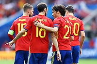 Juanfran, David Silva Spain <br /> Toulouse 13-06-2016 Stade de Toulouse Footballl Euro2016 Spain - Czech Republic  / Spagna - Repubblica Ceca Group Stage Group D. Foto Matteo Ciambelli / Insidefoto