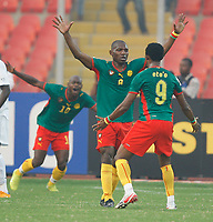 Photo: Steve Bond/Richard Lane Photography.<br /> Cameroun v Zambia. Africa Cup of Nations. 26/01/2008. Njitap Geremi (C) celebrates opening the scoring