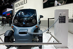 Renault Twizy plug-in electric vehicle at the Geneva Motor Show 2011 Switzerland
