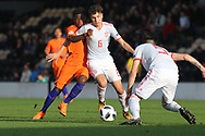 Ivan Morante Ruiz of Spain (6) during the UEFA European Under 17 Championship 2018 match between Netherlands and Spain at the Pirelli Stadium, Burton upon Trent, England on 8 May 2018. Picture by Mick Haynes.