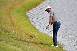 January 19, 2019 - Lake Buena Vista, FL, U.S. - LAKE BUENA VISTA, FL - JANUARY 19: Marcus Allen chips on hole 17 during the third round of the Diamond Resorts Tournament of Champions on January 19, 2019, at Tranquilo Golf Course at Fours Seasons Orlando in Lake Buena Vista, FL. (Photo by Roy K. Miller/Icon Sportswire) (Credit Image: © Roy K. Miller/Icon SMI via ZUMA Press)