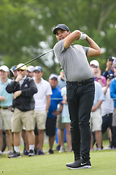 May 5, 2019 - Charlotte, North Carolina, United States of America - Jason Day tees off on the third hole during the final round of the 2019 Wells Fargo Championship at Quail Hollow Club on May 05, 2019 in Charlotte, North Carolina. (Credit Image: © Spencer Lee/ZUMA Wire)