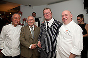 NOBU MATSUHISA; TREVOR GULLIVER; FERGUS HENDERSON; MARK EDWARDS, The Tomodachi ( Friends) Charity Dinner hosted by Chef Nobu Matsuhisa in aid of the Unicef  Japanese Tsunami Appeal. Nobu Berkeley St. London. 5 May 2011. <br /> <br />  , -DO NOT ARCHIVE-© Copyright Photograph by Dafydd Jones. 248 Clapham Rd. London SW9 0PZ. Tel 0207 820 0771. www.dafjones.com.