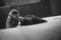 Tjasa Kalan during National championship in boulder climbing on November 29, 2015 in Kranj, Slovenia. (Photo By Grega Valancic / Sportida)