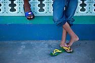 Feet in Gibara, Holguin, Cuba.