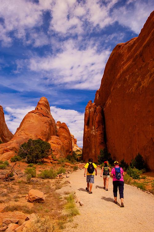 Devils Garden Trail, Arches National Park, near Moab, Utah USA