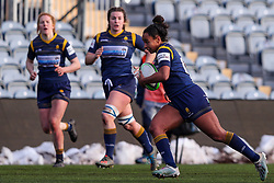 Jade Shekells of Worcester Warriors Women bursts towards the DMP Durham Sharks try line - Mandatory by-line: Nick Browning/JMP - 09/01/2021 - RUGBY - Sixways Stadium - Worcester, England - Worcester Warriors Women v DMP Durham Sharks - Allianz Premier 15s