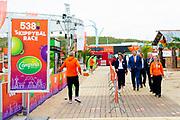 SCHEVENINGEN, 23-07-2021, Beachstadium<br /> <br /> Koning Willem Alexander tijdens de opening van het TeamNL Olympic Festival op het sportstrand van Den Haag. Het festival staat drie weken in het teken van de Olympische Spelen die plaatsvinden in Tokio.