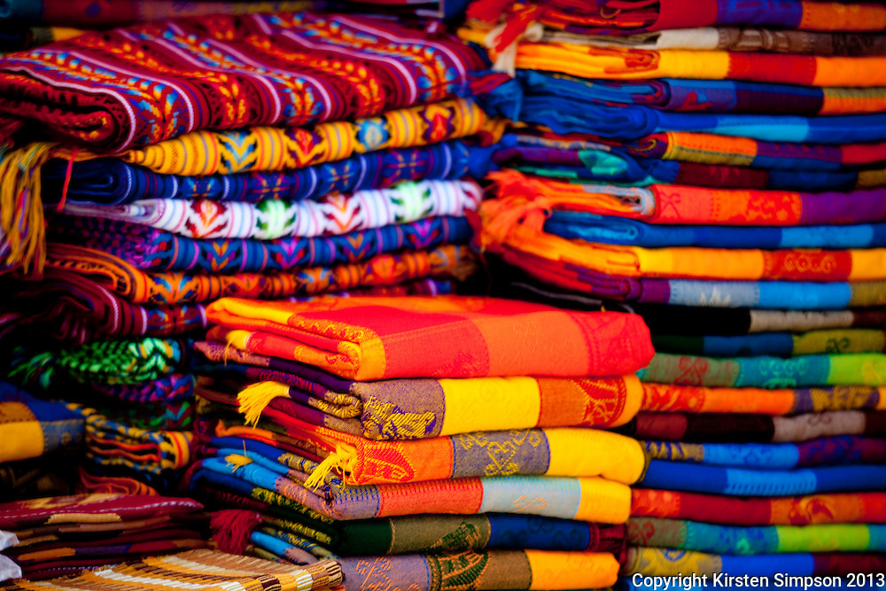 Fabric at the markets in San Cristóbal