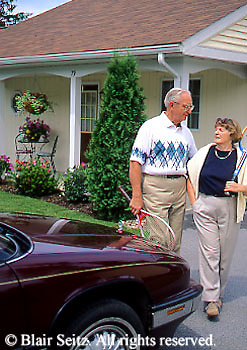 Active Aging Senior Citizens, Retired, Activities, Elderly Couple Outdoor Recreation, Staying Fit, Enjoying Nature Retirement Community Couple Pack for Golfing, Staying Young