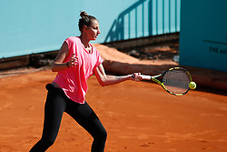 May 3, 2019 - Madrid, MADRID, SPAIN - Kristyna Pliskova of Czech Republic during the Mutua Madrid Open 2019 (ATP Masters 1000 and WTA Premier) tenis tournament at Caja Magica in Madrid, Spain, on April 28, 2019. (Credit Image: © AFP7 via ZUMA Wire)