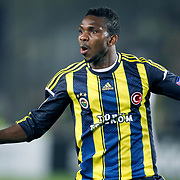 Fenerbahce's Joseph Michael Yobo during their UEFA Europa League Quarter Final first match Fenerbahce between Lazio at Sukru Saracaoglu stadium in Istanbul Turkey on Thursday 04 April 2013. Photo by Aykut AKICI/TURKPIX