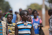 Africa, Ethiopia, Omo region, Ari Tribe child at the cattle market
