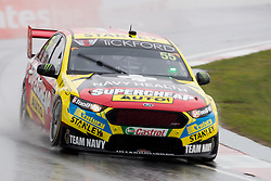 October 4, 2018 - Bathurst, NSW, U.S. - BATHURST, NSW - OCTOBER 04: James Moffat in the Supercheap Auto Racing Ford Falcon during second practice session for the Supercheap Auto Bathurst 1000 V8 Supercar Race on October 04, 2018, at Mount Panorama Circuit in Bathurst, Australia. (Photo by Speed Media/Icon Sportswire) (Credit Image: © Speed Media/Icon SMI via ZUMA Press)