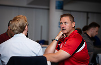 Football - 2019 / 2020 Gallagher Premiership Rugby - New Season Launch Media Photocall<br /> <br /> Gloucester head coach Johann Ackermann fields questions during an open media session, at Twickenham.<br /> <br /> COLORSPORT/ASHLEY WESTERN