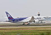 CC-BBE LAN Airlines, Boeing 787 at Malpensa airport, Milan, Italy