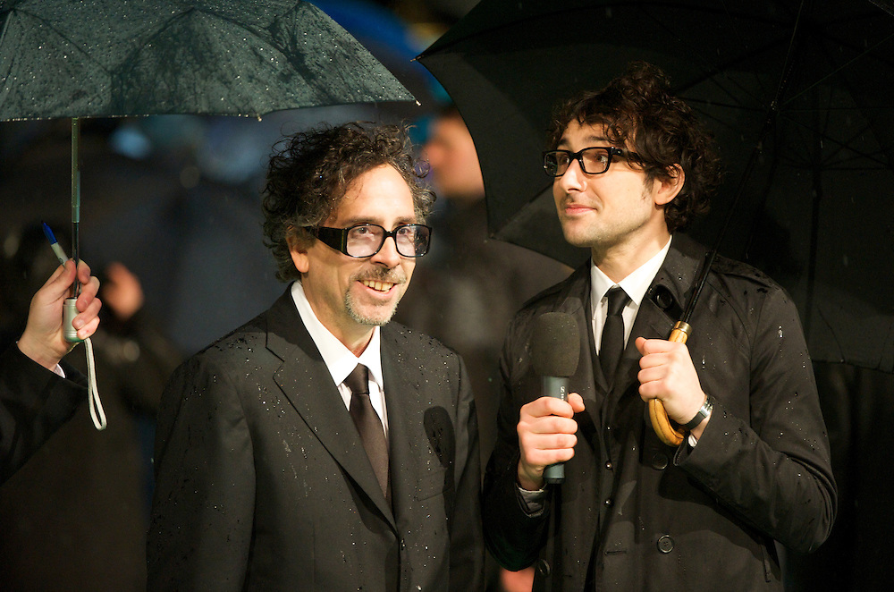 Director Tim Burton is interviewed at the Royal World Premiere of 'Alice in Wonderland' at the Odeon Leicester Square in London.