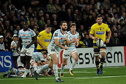 January 8, 2018 - Nanterre, Hauts de Seine, France - Racing Metro 92 Fly Half RÆ'MI TALES in action during the French rugby championship Top 14 match between Racing Metro 92 and Clermont at U Arena Stadium in Nanterre - France.Racing won 58-6 (Credit Image: © Pierre Stevenin via ZUMA Wire)