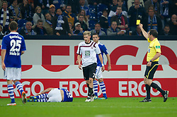 15.10.2011, Veltins Arena, Gelsenkirchen, GER, 1. FBL, FC Schalke 04 vs. 1. FC Kaiserslautern, im Bild Oliver Kirch (#7 Kaiserslautern) bekommt die Gelbe Karte // during FC Schalke 04 vs. 1. FC Kaiserslautern at Veltins Arena, Gelsenkirchen, GER, 2011-10-15. EXPA Pictures © 2011, PhotoCredit: EXPA/ nph/  Kurth       ****** out of GER / CRO  / BEL ******